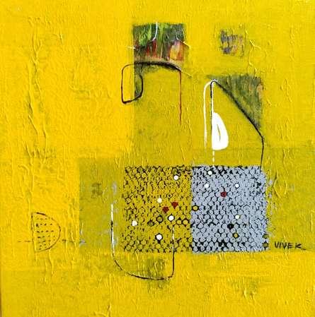Abstract Acrylic Art Painting title Untitled 19 by artist Vivek Nimbolkar