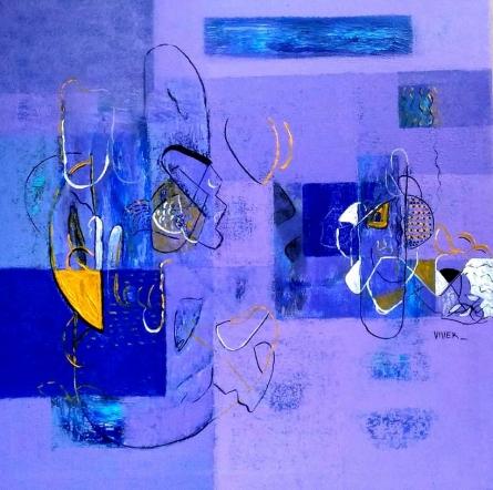 Untitled 2 | Painting by artist Vivek Nimbolkar | acrylic | Canvas