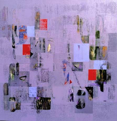 Abstract Acrylic Art Painting title Untitled 25 by artist Vivek Nimbolkar