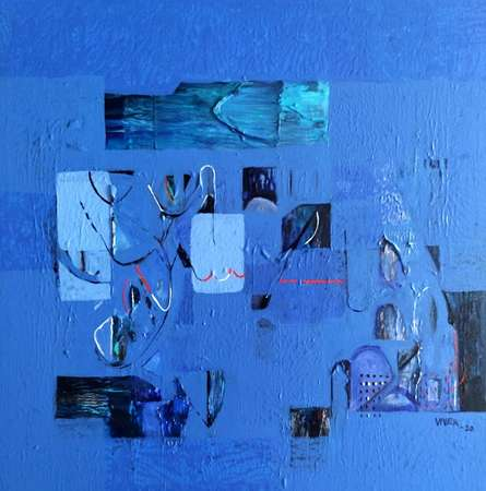 Abstract Acrylic Art Painting title Untitled 39 by artist Vivek Nimbolkar