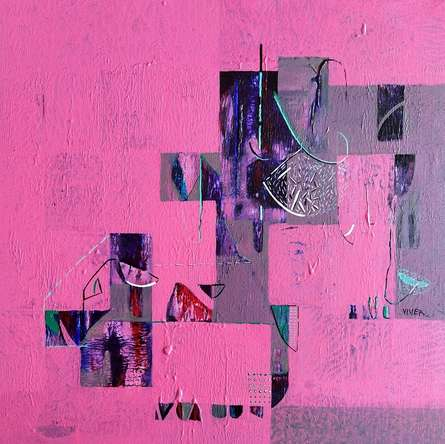 Abstract Acrylic Art Painting title Untitled 40 by artist Vivek Nimbolkar
