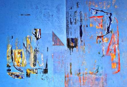 Abstract Acrylic Art Painting title Untitled 44 by artist Vivek Nimbolkar