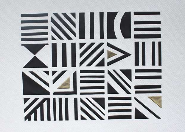 Mixed Media Painting titled 'Untitled 63' by artist Vivek Nimbolkar on Paper