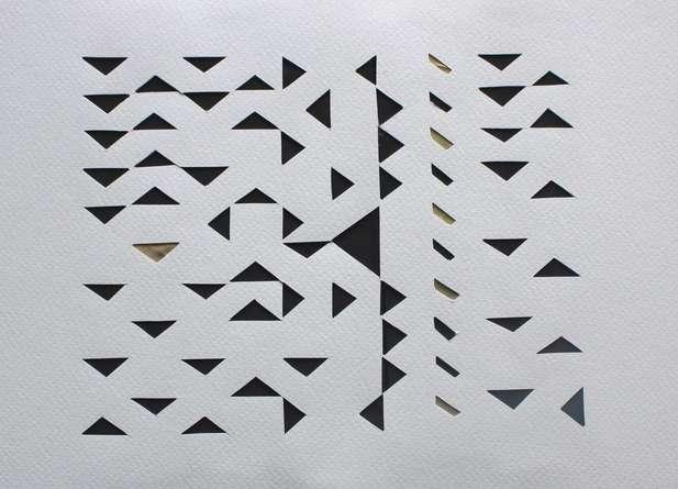 Mixed Media Painting titled 'Untitled 71' by artist Vivek Nimbolkar on Paper