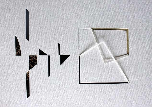 Mixed Media Painting titled 'Untitled 73' by artist Vivek Nimbolkar on Paper