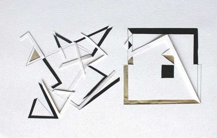 Mixed Media Painting titled 'Untitled 75' by artist Vivek Nimbolkar on Paper