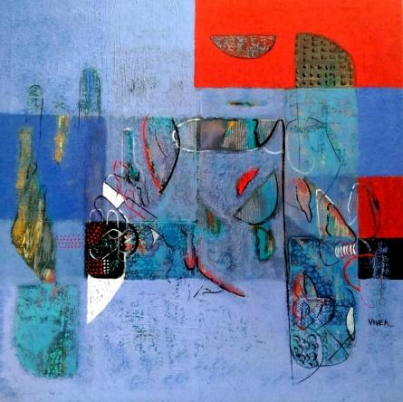 Untitled 8 | Painting by artist Vivek Nimbolkar | acrylic | Canvas