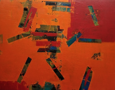 Abstract Acrylic Art Painting title 'Untitled 1' by artist Sharad Tarde