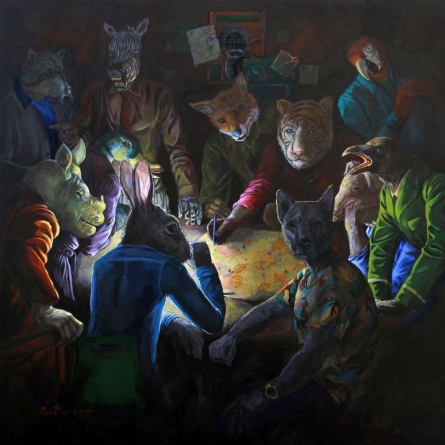 Planning For The Existenc | Painting by artist Minal Rajurkar | acrylic | Canvas