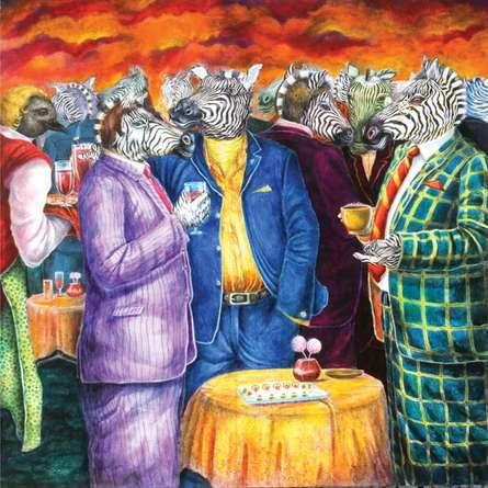 Pseudo Society | Painting by artist Minal Rajurkar | mixed-media | Canvas