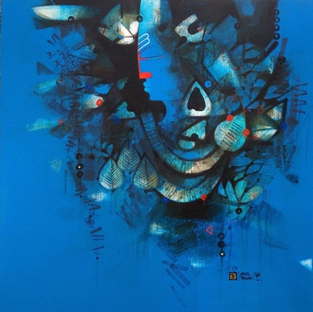 Shiva Shakti | Painting by artist Amol Pawar | oil | Canvas