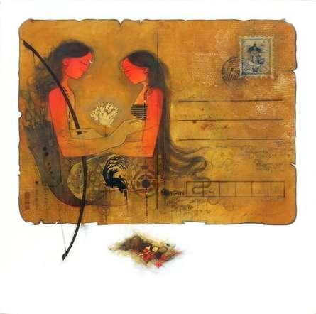 Ram Bhakta | Painting by artist Amol Pawar | mixed-media | canvas