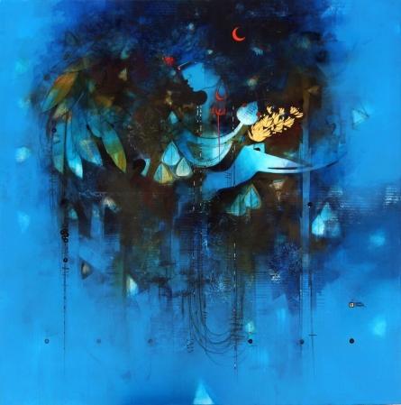 Jagdish | Painting by artist Amol Pawar | mixed-media | canvas