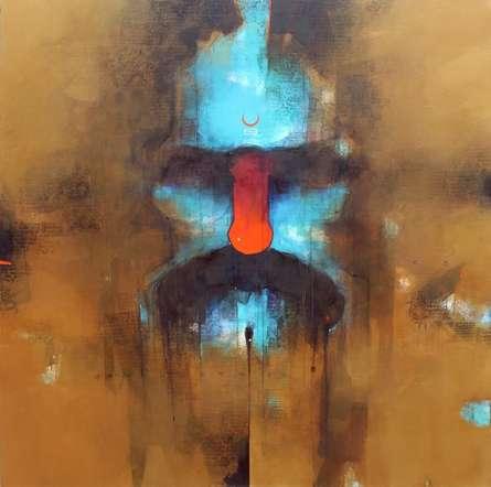 Religious Acrylic Art Painting title Sadhu 2 by artist Amol Pawar