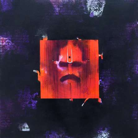 Religious Acrylic Art Painting title Sadhu 4 by artist Amol Pawar