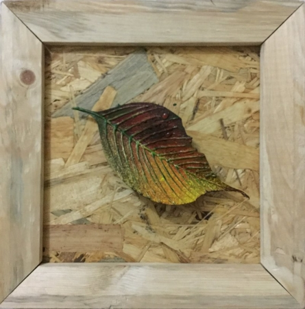Ornamental Autumn 2 | Painting by artist Pradip Tupe | mixed-media | wood