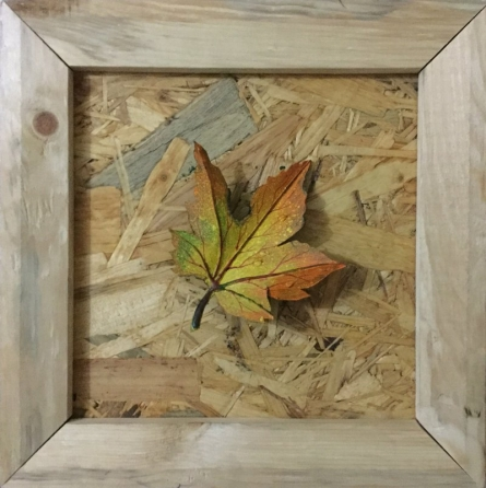 Ornamental Autumn 3 | Painting by artist Pradip Tupe | mixed-media | wood