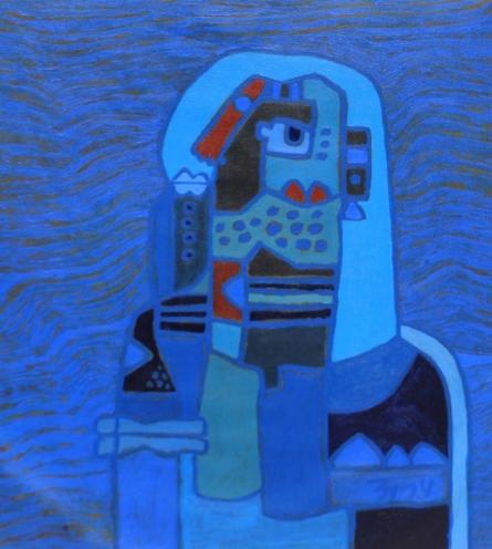 TRIBAL WOMEN 3 | Painting by artist Anup Shrivastav | acrylic | Canvas