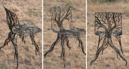 Sculptural Chair | Sculpture by artist Prabhakar Singh | Welded Iron