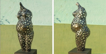 Mother | Sculpture by artist Prabhakar Singh | Welded Iron,Brass