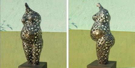 Mother | Sculpture by artist Prabhakar Singh | Welded Iron,Brass