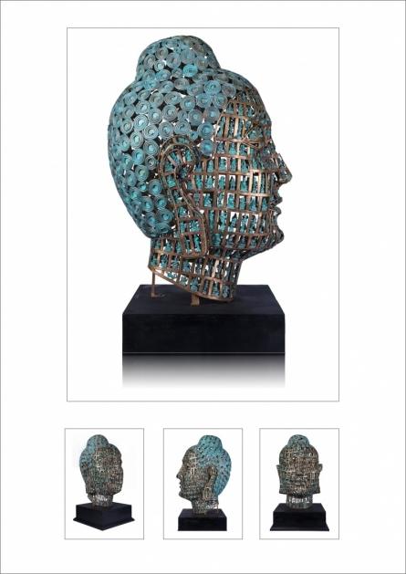 Brass Sculpture titled 'Untitled 12' by artist Prabhakar Singh