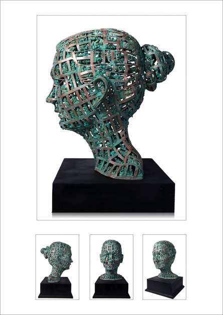 Brass Sculpture titled 'Untitled 16' by artist Prabhakar Singh