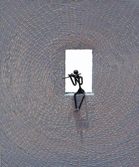 Untitled 17 | Sculpture by artist Prabhakar Singh | Canvas Gesso, Metal