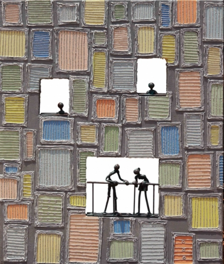 Canvas Gesso, Metal Sculpture titled 'Untitled 19' by artist Prabhakar Singh