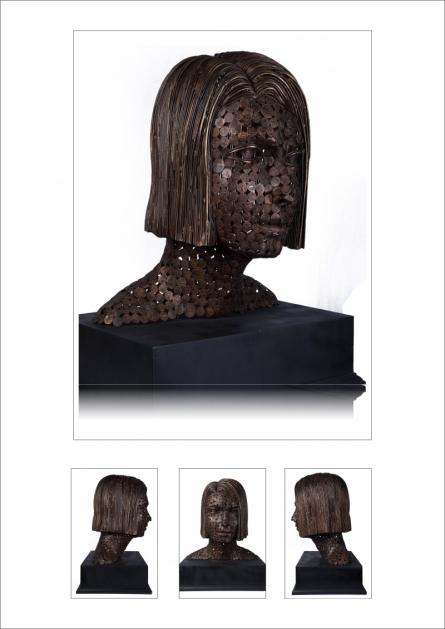 Prabhakar Singh | Untitled 2 Sculpture by artist Prabhakar Singh on Copper, Brass | ArtZolo.com
