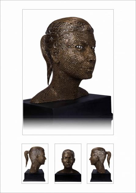 Untitled 3 | Sculpture by artist Prabhakar Singh | Brass