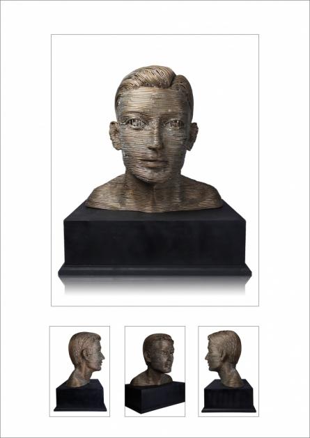 Brass Sculpture titled 'Untitled 5' by artist Prabhakar Singh