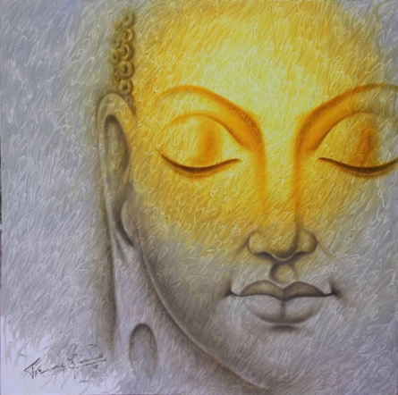 Prince Chand Paintings | Religious Painting - Buddha 2 by artist Prince Chand | ArtZolo.com