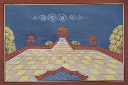 Mixed Media Painting titled 'Pichwai' by artist Pushkar Lohar on Cotton Cloth