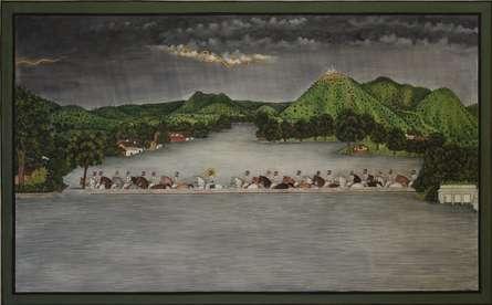 Mewar Pichwai | Painting by artist Pushkar Lohar Pichwai | mixed-media | Cloth