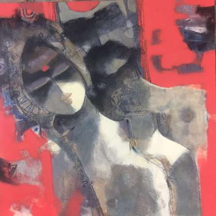 Couple | Painting by artist Sachin Jaltare | acrylic | Canvas