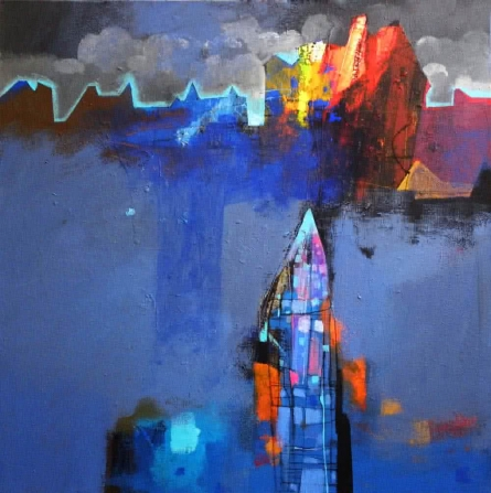 Untitled | Painting by artist Pradip Sengupta | acrylic | acrylic on canvas