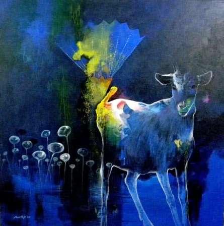 Dream way   Painting by artist Pradip Sengupta   acrylic   Canvas