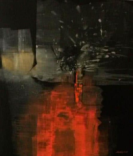 Untitled 2 | Painting by artist Pradip Sengupta | acrylic | Canvas