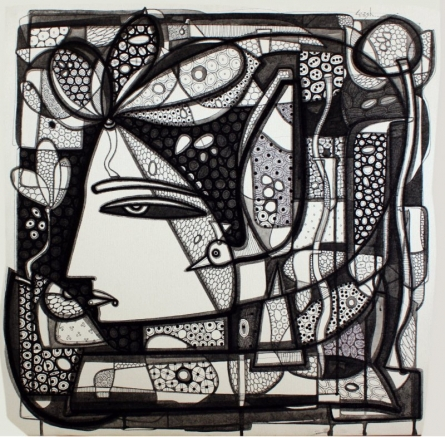 Figurative Ink Art Drawing title Untitled 11 by artist Girish Adannavar