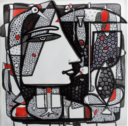 Untitled 7 | Drawing by artist Girish Adannavar |  | ink | Canvas