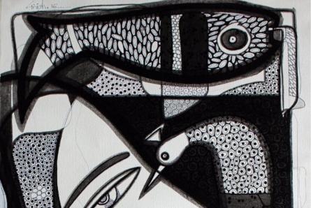 Untitled 4 | Drawing by artist Girish Adannavar |  | ink | Canvas