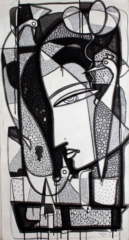 Untitled 3 | Drawing by artist Girish Adannavar |  | ink | Canvas
