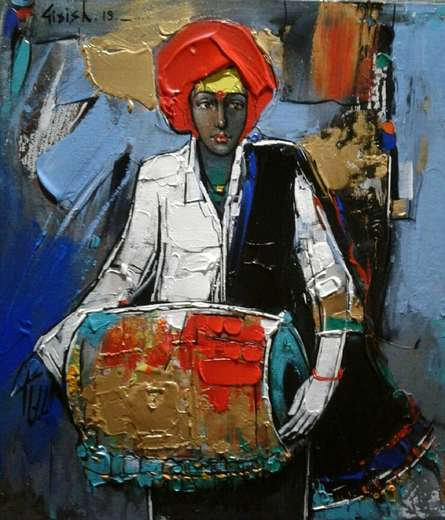 Girish Adannavar | Acrylic Painting title Untitled 7 on Canvas Board