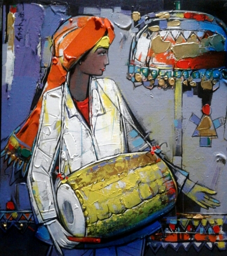 Figurative Acrylic Art Painting title Untitled 4 by artist Girish Adannavar