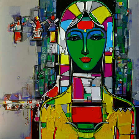 Figurative Acrylic Art Painting title 'Untitled 27' by artist Girish Adannavar