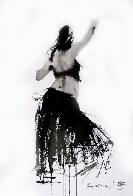 I Move N It Is Dance 2 | Painting by artist Aditya Shirke | watercolor | Paper