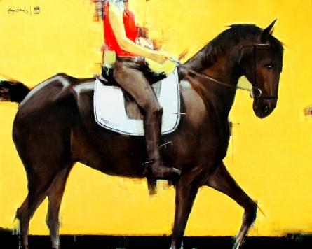 Animals Acrylic-oil Art Painting title 'Progress' by artist Aditya Shirke