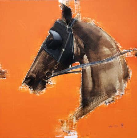 Animals Acrylic-oil Art Painting title A Winning Bet by artist Aditya Shirke