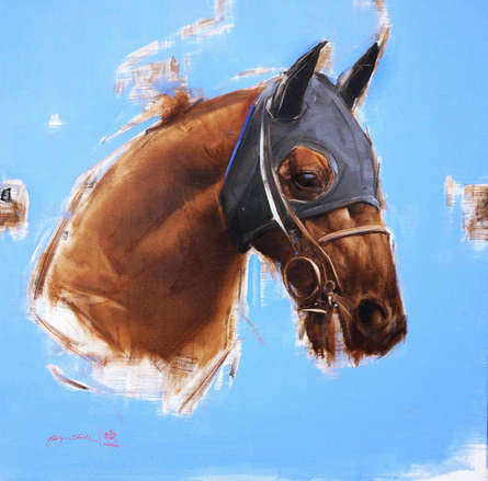 Animals Acrylic-oil Art Painting title An Eye For Detail by artist Aditya Shirke